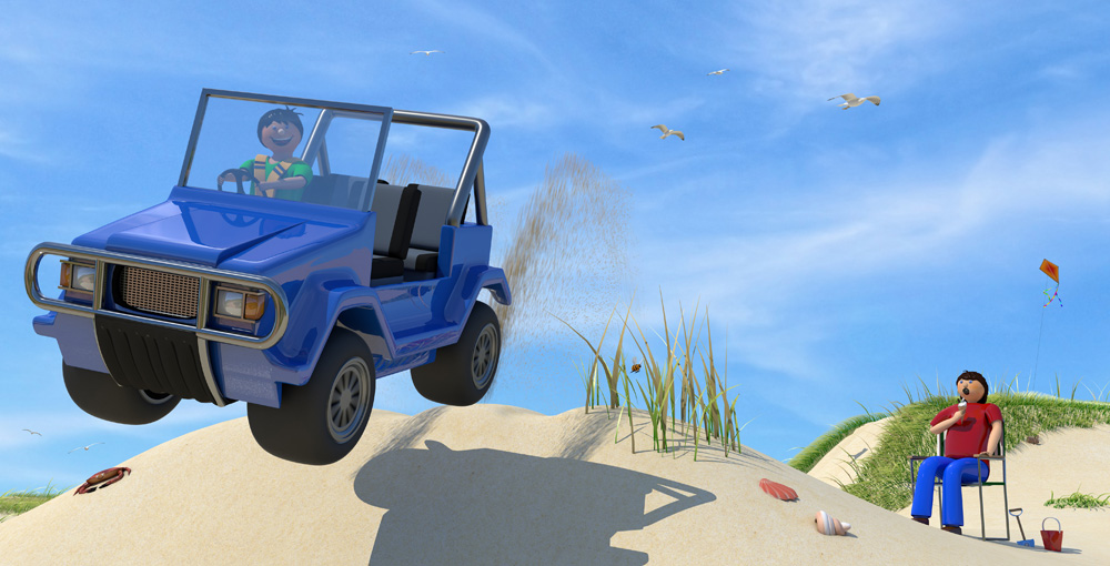 beach buggy illustration from Better Buckle Up