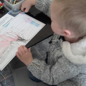 Max colouring activity page from Better Buckle Up