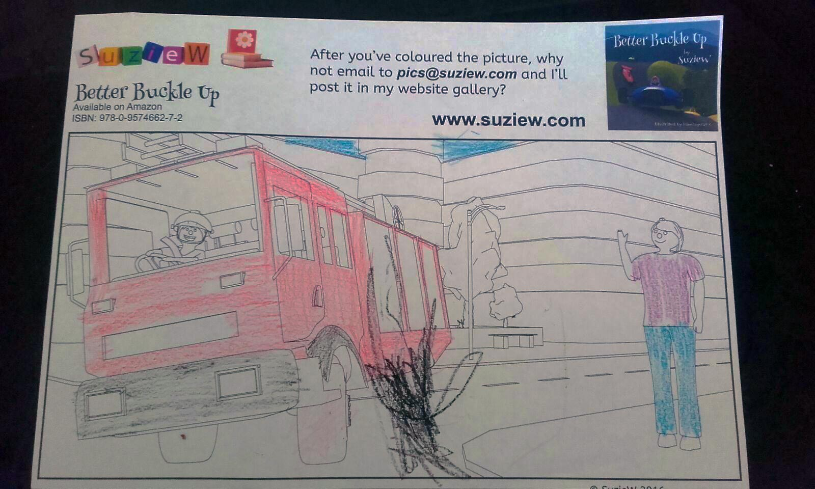 Fire Engine Page From Better Buckle Up By Suziew Diagram Colouring