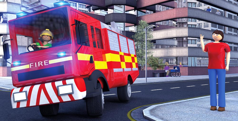 fire engine illustration from better buckle up