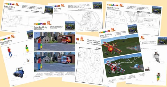 Better Buckle Up activity sheets