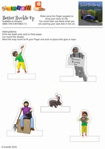 Better Buckle Up finger puppet activity sheet