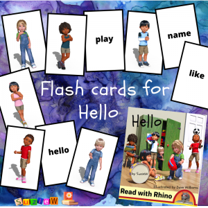flashcards graphic for Hello