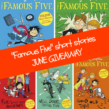 Win 5 Famous Five colour short stories in the June #Giveaway